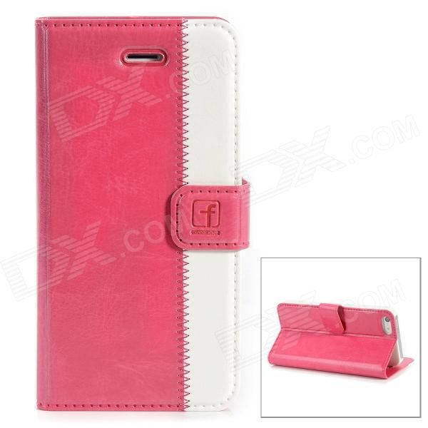 Brand: Flower Show; Quantity: 1 Piece; Color: Deep pink + white; Material: Second layer sheepskin; Compatible Models: Iphone 5; Other Features: Protects your device from scratches dust and shock; Packing List: 1 x Protective case; http://j.mp/1uO8xac