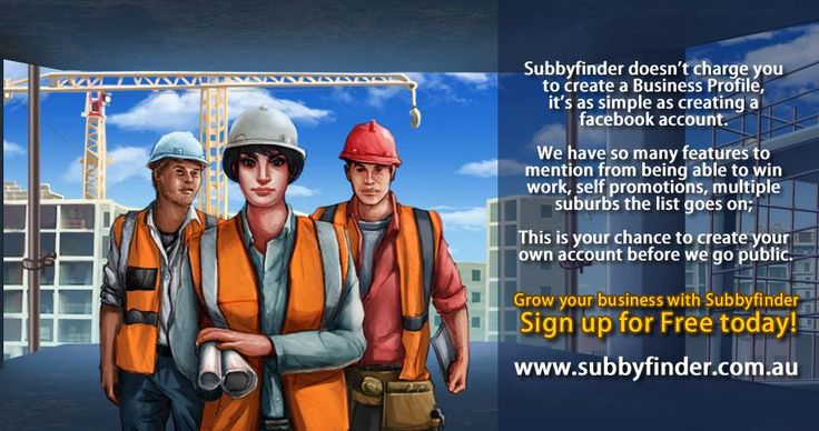 Subbyfinder has launched ! #Subbyfinder is a revolution for Australia's #trades and #construction industries. Sign up it's Free! Click on the link below to create your business profile today !   http://subbyfinder.com.au/