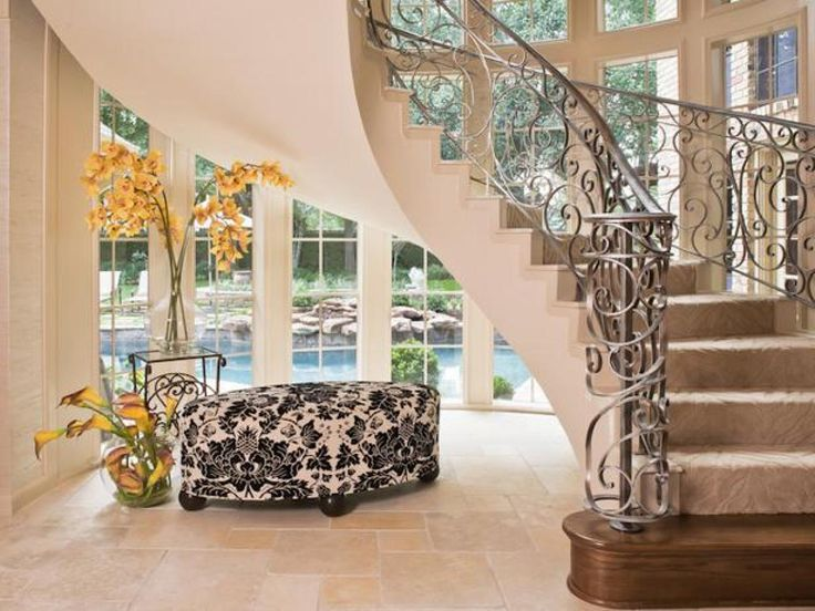 old houses with elegant stairs | 13 Iron Staircases Ideas | DIY Home Decor and Decorating Ideas | DIY