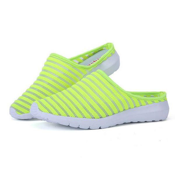 Women Mesh Breathable Casual Hollow Out Summer Slipper Sandals - US$22.36