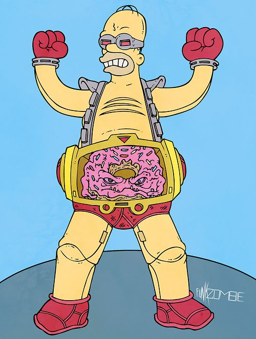 Homer x Krang by The Funk Zombie