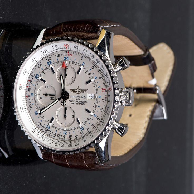 A BREITLING WATCH 1884 Lot 8496 EST Price: USD 3,500 - 5,000 Start Price: USD 2,500 A Breitling watch, Chronometre Nagitimer, white dial. Diameter 48mm