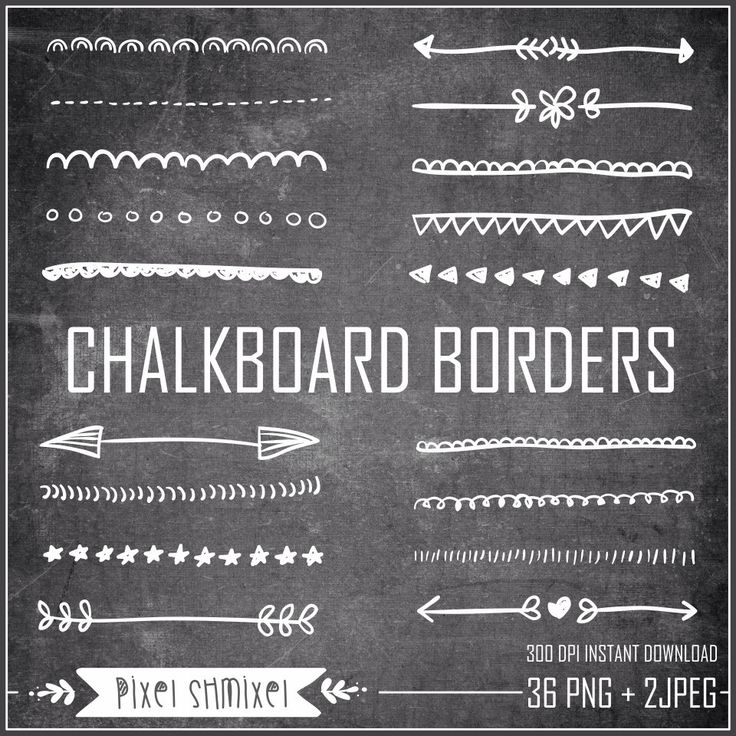 Chalkboard Borders Clipart, Hand Drawn Border, Doodle Border Clipart, Digital  Wedding Border, Black & White Chalkboard Backgrounds, 36 PNG by PixelShmixel on Etsy https://www.etsy.com/listing/201479245/chalkboard-borders-clipart-hand-drawn