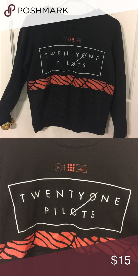 Twenty one pilots crew neck Great condition runs a little small Tops Sweatshirts & Hoodies