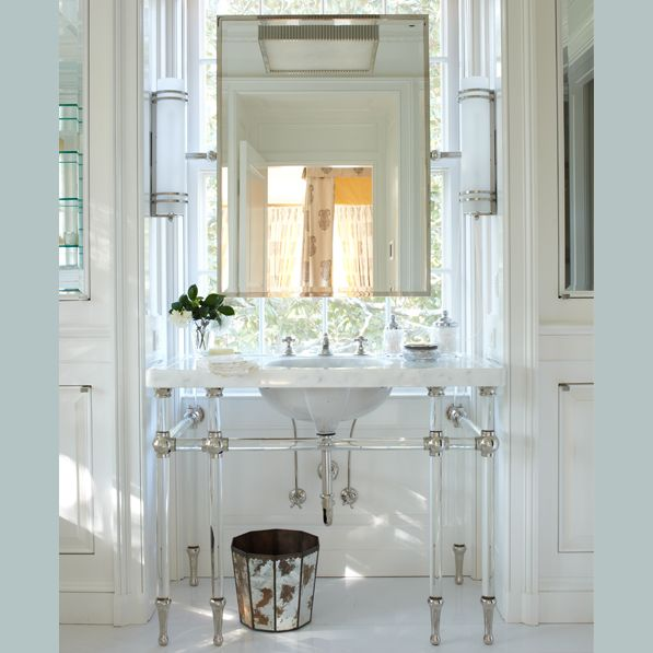 I Love Bathroom Mirrors In Front Of Windows The Perfect Natural Light Interior Design By David Netto Photograph Max Kim Bee