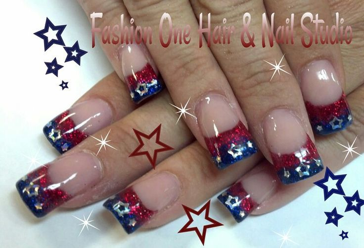 4th of July Acrylic Nails | 4th of July