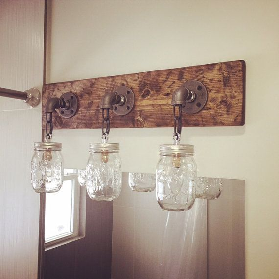Rustic Industrial Modern Handmade Mason Jar Chandelier Rustic: Best 25+ Mason Jar Lighting Ideas On Pinterest