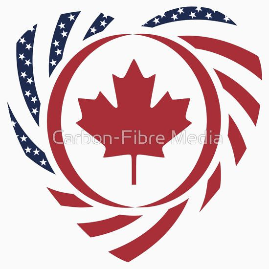 Canadian American Multinational Patriot Flag Series 2.0 | #Canada #Canadian #American #patriot #gift #patriotic #flag #combined #together #flags #country #world #multinational #multinationalPATRIOT #dual #citizen #global #onjenayo #multinationalFLAG #teamEH #Ocanada