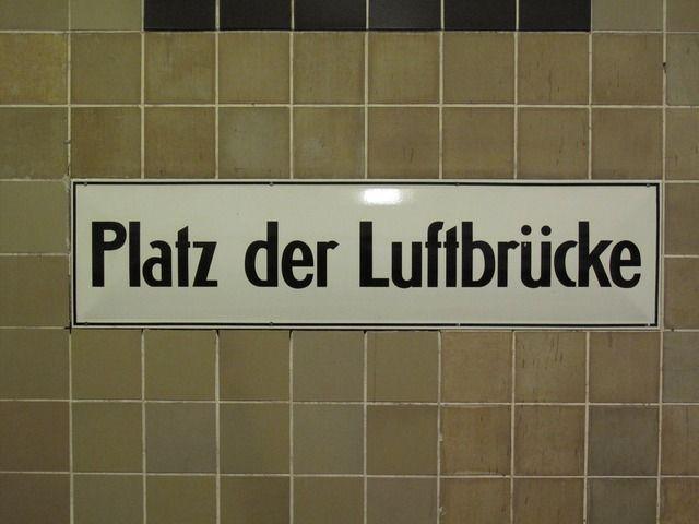 Image for Platz der Luftbrücke (Berlin U-Bahn station sign)