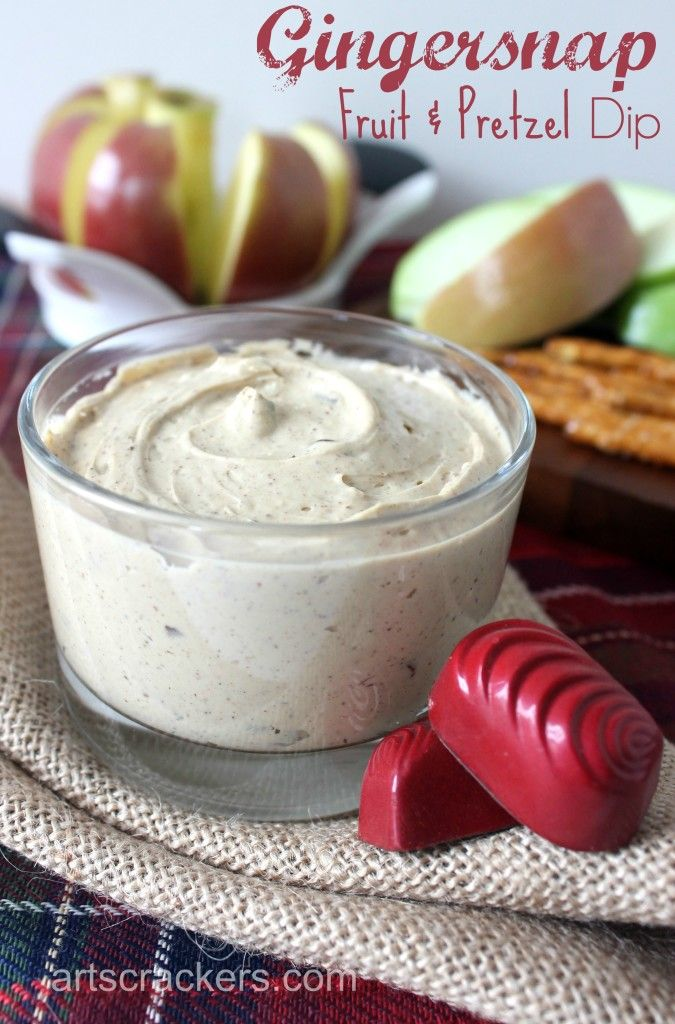 Gingersnap Fruit and Pretzel Dip Recipe #MomBlogTourFF ad