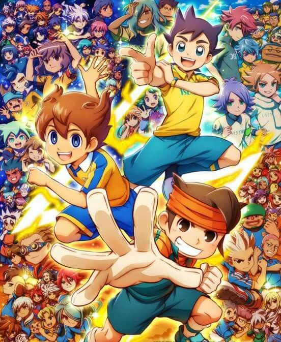 Not mine. This is really cool but that guy in the top right is NOT in the gang. Inazuma Eleven: Ares no Tenbin is such a confusing season and no matter how many times It might be explained to me, I will never understand it!
