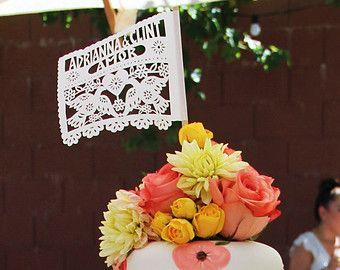 Papel Picado wedding invitation inserts embellishments by AyMujer