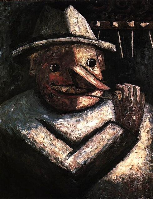 Makowski, Tadeusz (1882-1932) - 1930c. Portrait of a Man with Pipes (National…