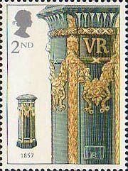 150th Anniversary of the First Pillar Box 2nd Stamp (2002) Green Pillar Box…