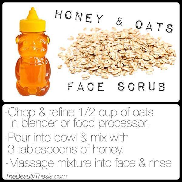 DIY Face Scrub: Skin softening honey & oats face scrub recipe