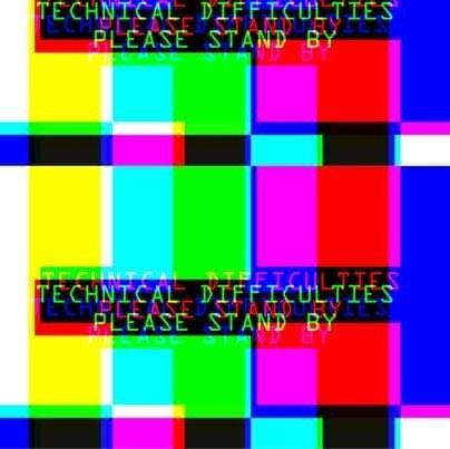 Technical Difficulties Colorful Glitch Image Glitch Retro Pop Tv Static Glitch Art