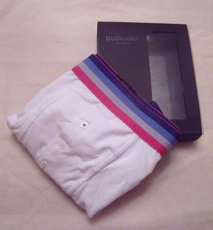 Duchamp Mens Designer White Boxer Underwear - Size Medium/ Gift for him  | eBay