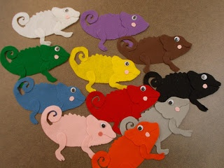 Fun with Friends at Storytime: Little Chameleons Color Game