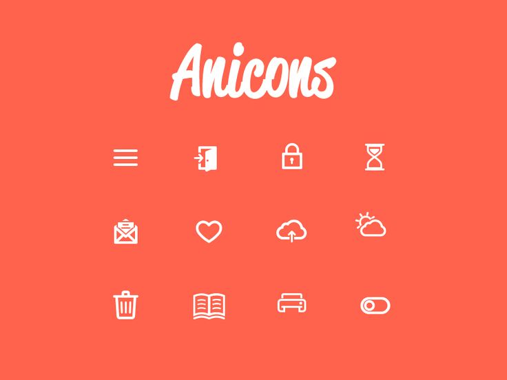 Anicons. Click GIF button for movement.