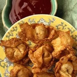 Wontons are easy to make, and the distinctive Asian flavors of the pork filling make them an appetizer everyone will crave.