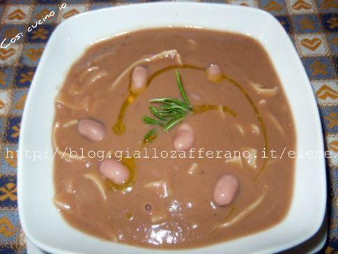 minestra di fagioli freschi