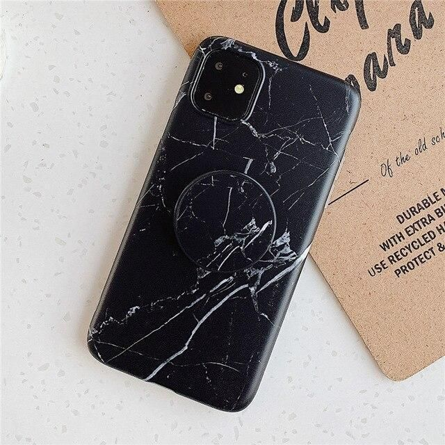 Classic Marble Iphone Case Holder 11 Pro Max Black Marble Iphone Case Marble Iphone Black Marble Iphone Case
