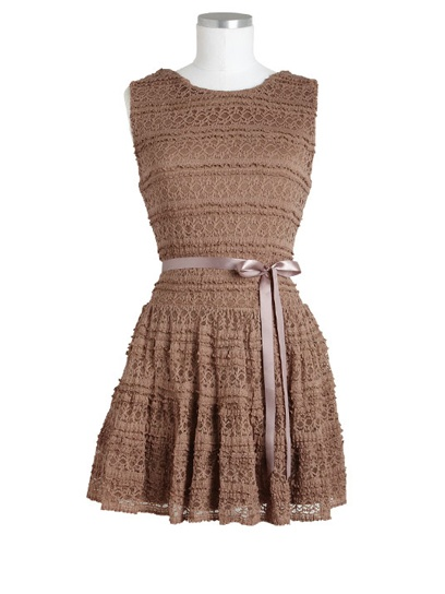 Stretch Lace Dress  Take the ribbon off and it is the perfect dress