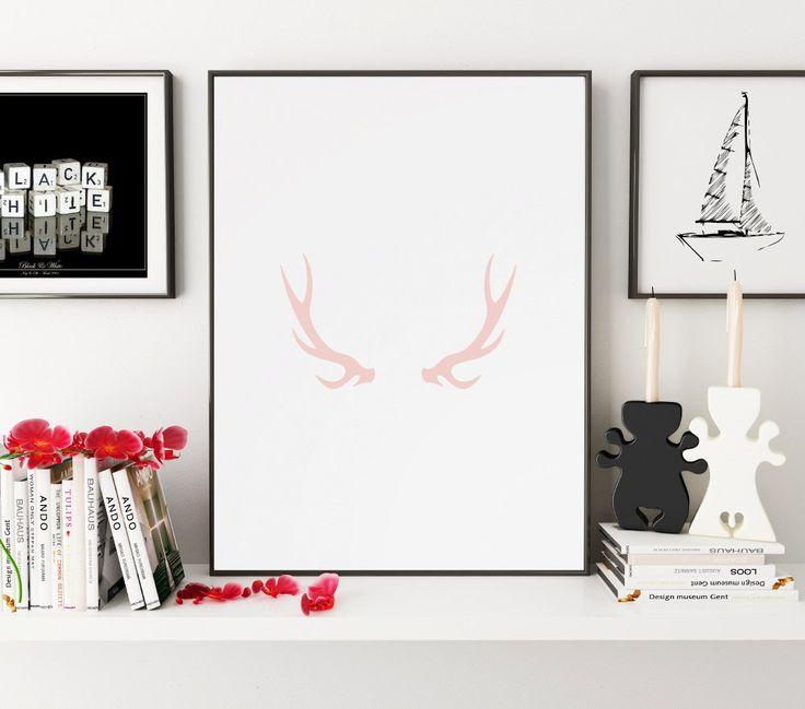 antler art, deer antler, antlers, antler print, antler wall decor, antler wall art, painted antlers, antler clip art, antler clipart, prints
