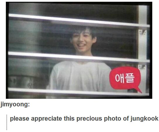 Jungkook is the cutest little bunny ever!