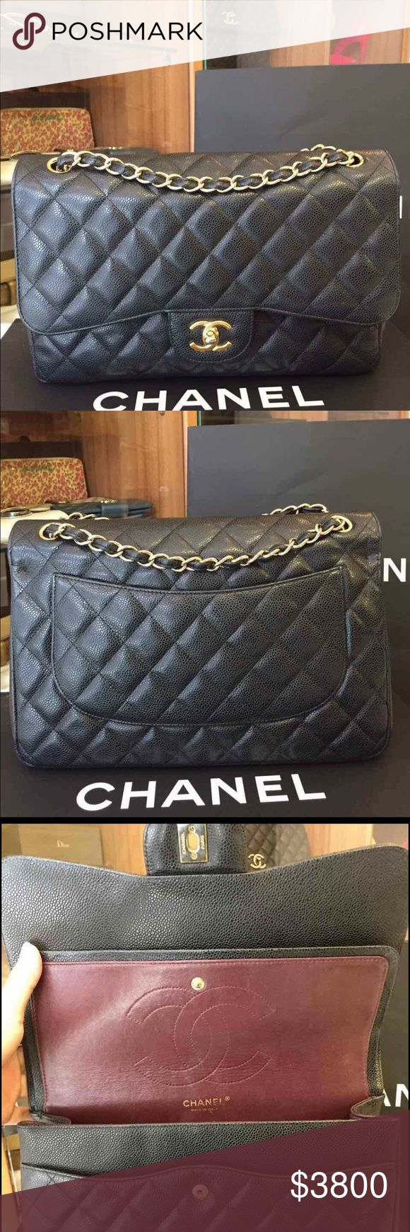 Authentic chanel Classic jumbo black doubleflap Authentic chanel Classic black jumbo doubleflap used come with bag only CHANEL Bags