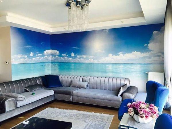 Deniz Manzaralı 3D Salon Duvar Kağıdı Modeli