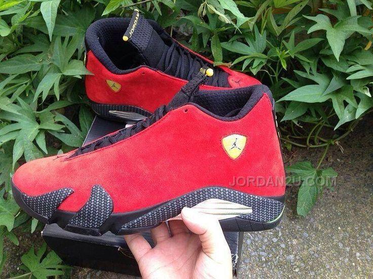 329f01283569 ... Ferrari Challenge Red Suede Black-Vibrant Yellow Air Jordan 14 THUNDER  Release Date http   www.jordan2u.com men-air-jordan- ...