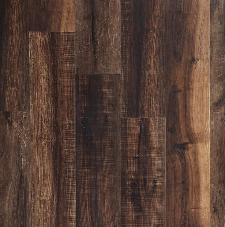 NuCore Mixed Mocha Hand Scraped Plank with Cork Back - 6.5mm - 100376821 | Floor and Decor
