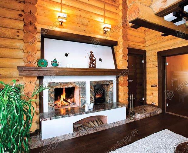 Комбинированный камин с двумя топками -  Combined fireplace with two furnaces