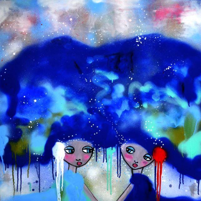 <span>Tavlan Fairytale av konstnären Karolina Palmér. </span>