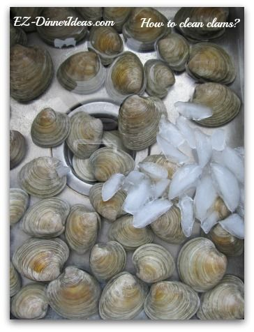 How to clean clams?  A major step to have a plate of perfectly steamed clams.