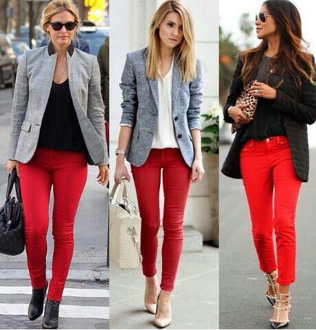 Las 25 Mejores Ideas Sobre Pantalon Rojo Mujer En Pinterest Y Mu00e1s | Pantalones Rojos Outfit ...