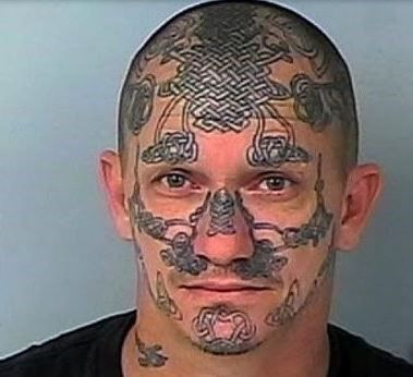 53 WTF Face Tattoos That Are a Sign Your Life Might Have Gone Wrong