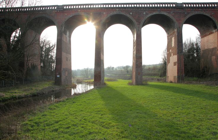 https://flic.kr/p/F9DBbZ   Eynsford Viaduct   The sun was just starting to set over the kent weald in the darent valley - www.adamswaine.co.uk This impressive nine-arched red-brick viaduct is a prominent feature on the line to the delightfully-named ''Bat & Ball'' station. The structure was built by the independent ''Sevenoaks Railway'', incorporated in 1859 to link the ''Chatham'' main line with the market town of Sevenoaks. The branch was initially single-track, seeing its first servi...