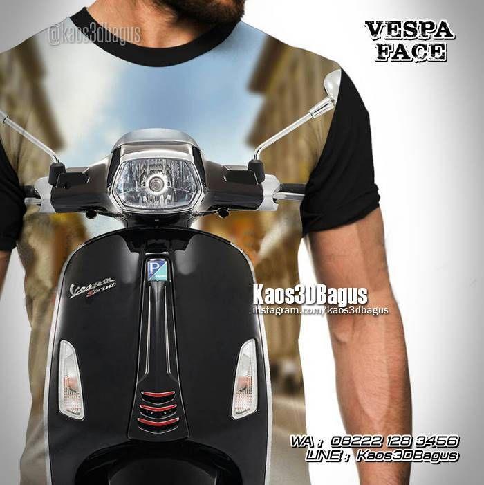 Kaos VESPA SPRINT, Kaos Modern Vespa, Kaos 3D Motor Vespa, https://kaos3dbagus.wordpress.com, WA : 08222 128 3456, LINE : Kaos3DBagus