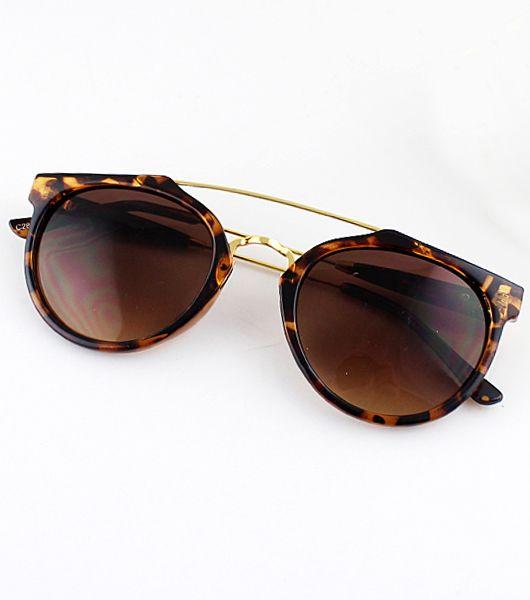 Gafas de sol marrón leopardo 13.50