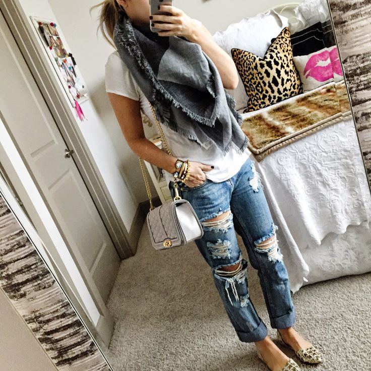Love distressed jeans!