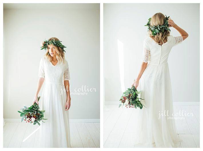 Cheap and modest wedding dress by LatterDayBride, the Leonora