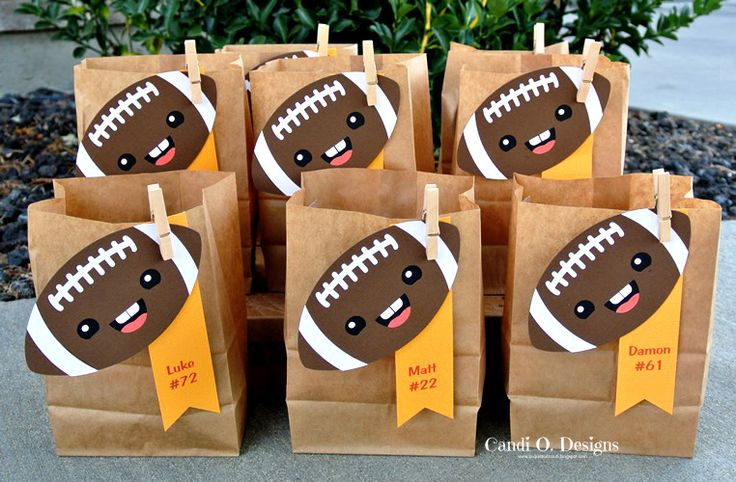 Candi O Designs: Football Goodie Bags