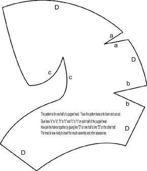 "Bashful Puppet: Free Puppet Head pattern Best printed on 11""x17"" paper"