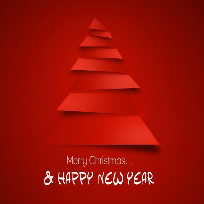 Carte de vœux de Noël et du nouvel an.