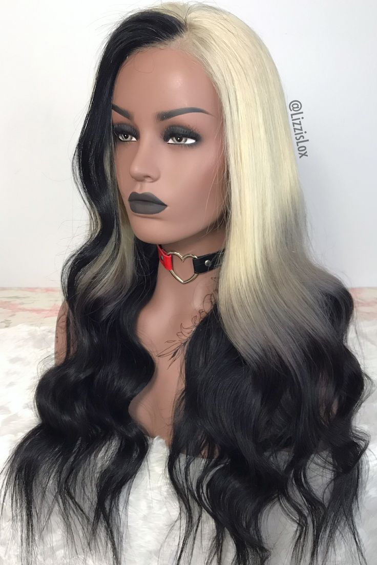 Blonde silver black ombre wig by lizzislox ombre wigs