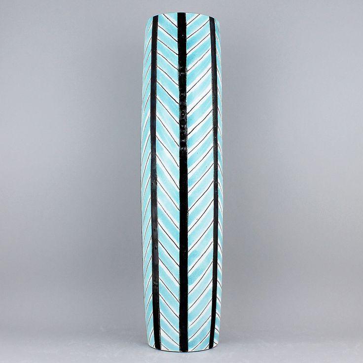 Stig Lindberg (1950s) Majestic Geometrical Cylinder Vase