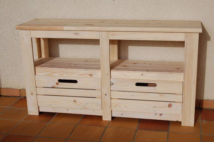 1000 id es propos de meubles t l palettes sur for Meuble tele fin