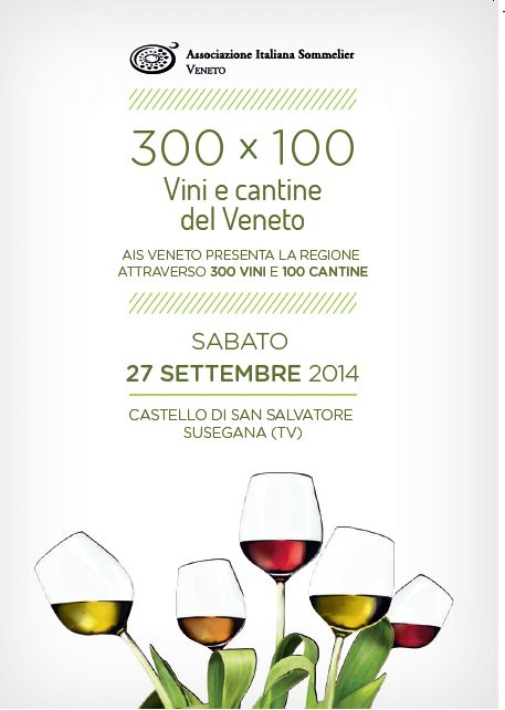 27Semptember2014 - Susegana: #IlVenetoal300x100, 4th edition of the wine fair organised by the #AssociazioneItalianaSommelier.... We will be there with our #Cartizze, #Brut and #Extra Dry